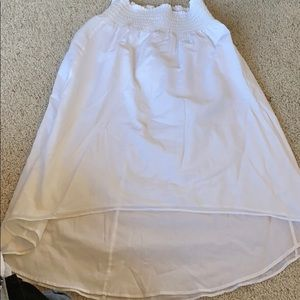 White Ann Taylor Hi Low Skirt